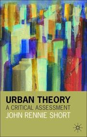 Cover of: Urban Theory
