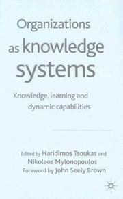 Cover of: Organizations as Knowledge Systems |