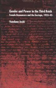 Cover of: Gender and Power in the Third Reich | Joshi Vandana