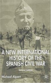 A New International History of the Spanish Civil War by Michael Alpert