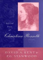 Cover of: Selected prose of Christina Rossetti