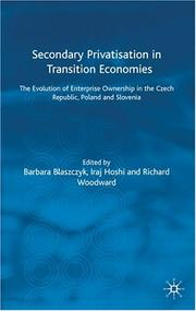 Cover of: Secondary Privatisation in Transition Economies |