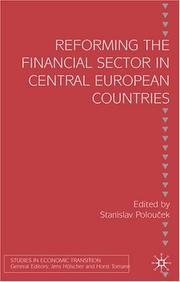 Cover of: Reforming the financial sector in Central European countries |