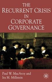 Cover of: The recurrent crisis in corporate governance