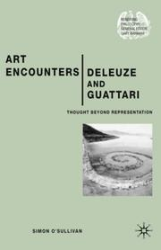 Cover of: Art encounters Deleuze and Guattari | Simon O