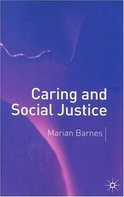 Cover of: Caring and social justice