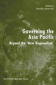 Cover of: Governing the Asia Pacific