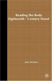 Cover of: Reading the body in the eighteenth-century novel | Juliet McMaster