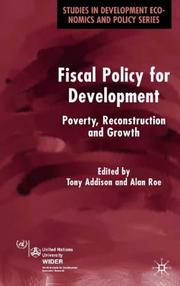 Cover of: Fiscal Policy for Development |