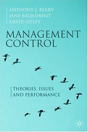 Cover of: Management Control | Anthony J. Berry