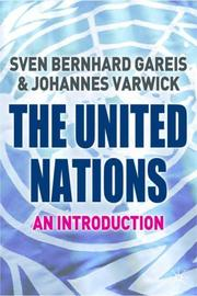 Cover of: United Nations | Sven Gareis