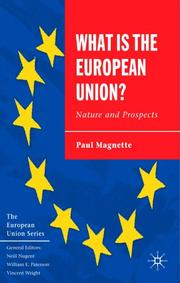 Cover of: What is the European Union
