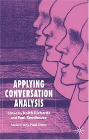 Cover of: Applying conversation analysis |