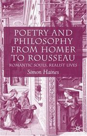 Cover of: Poetry and philosophy from Homer to Rousseau
