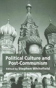 Cover of: Political culture and post-communism