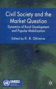 Cover of: Civil Society and the Market Question