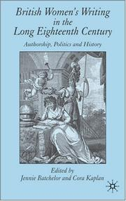 Cover of: British women's writing in the long eighteenth century |