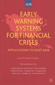 Cover of: Early Warning Systems for Financial Crisis: Applications to East Asia