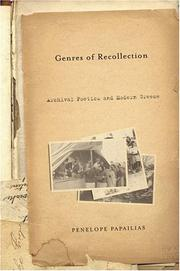 Cover of: Genres of Recollection | Penelope Papailias