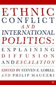 Cover of: Ethnic conflict and international politics by