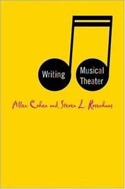 Cover of: Writing musical theater | Cohen, Allen