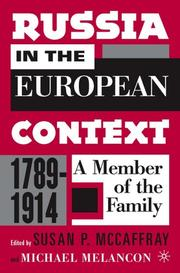 Cover of: Russia in the European Context, 1789-1914 | Susan McCaffray