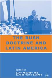 Cover of: The Bush Doctrine and Latin America |