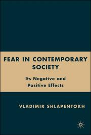 Cover of: Fear in Contemporary Society