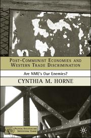 Cover of: Post-Communist Economies and Western Trade Discrimination | Cynthia M. Horne