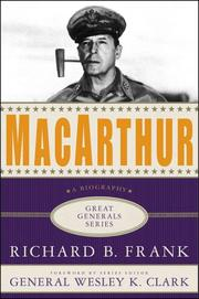 Cover of: MACARTHUR