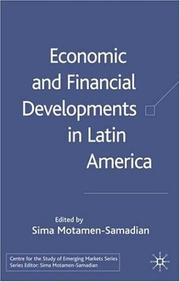 Cover of: Economic and financial developments in Latin America |