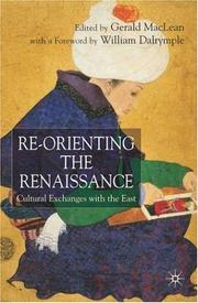 Cover of: Re-orienting the Renaissance |
