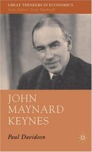 Cover of: John Maynard Keynes (Great Thinkers in Economics) | Paul Davidson