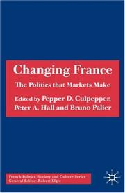 Cover of: Changing France