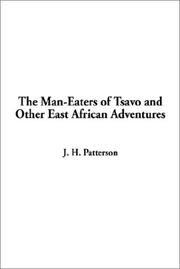 Cover of: The man-eaters of Tsavo and other East African adventures