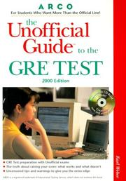 Cover of: UG/The GRE W/CD-ROM 2000 Edition (Unofficial Guides)