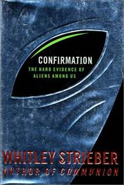 Cover of: Confirmation | Whitley Strieber