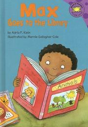 Cover of: Max goes to the library