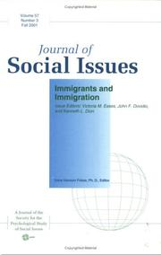 Immigrants and Immigration (Journal of Social Issues)
