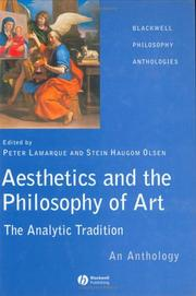 Cover of: Aesthetics and the Philosophy of Art: The Analytic Tradition | Stein Haugom Olsen
