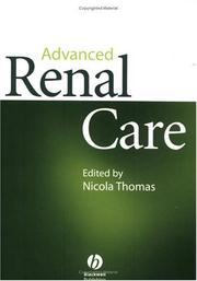 Cover of: Advanced renal care |