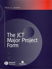 Cover of: The JCT Major Projects Form