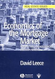 Cover of: Economics of the Mortgage Market | David Leece