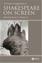 Cover of: A concise companion to Shakespeare on screen