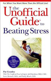 Cover of: The unofficial guide to beating stress