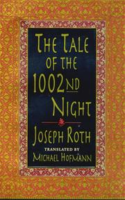Cover of: The tale of the 1002nd night: A Novel