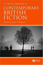 Cover of: A concise companion to contemporary British fiction |
