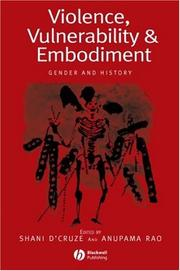 Cover of: Violence, Vulnerability and Embodiment | Anupama Rao