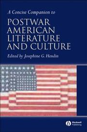 Cover of: A concise companion to postwar American literature and culture