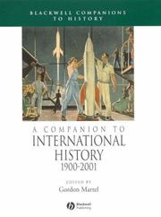 Cover of: A Companion to International History 1900-2001 (Blackwell Companions to History) |